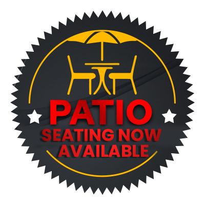 Patio Seating Now Available